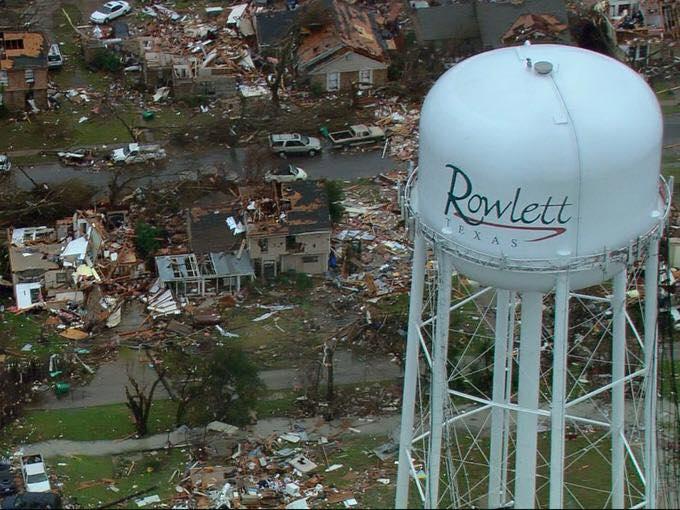 tornado, tornadoes, rowlett, dfw