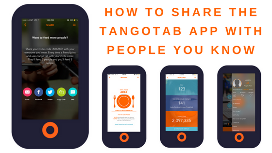 TangoTab App: How To Share TangoTab With Your Family And Friends